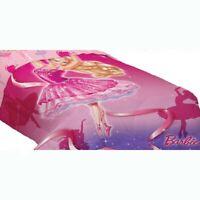 BARBIE DOLL BALLET TWIN COMFORTER Pink Dance Slippers Ballerina Dancing Bedding