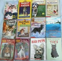 CHILDRENS BOOKS ANIMAL STORIES Lot of 12 Books Paper & HC Dog Cat Manatee #S1