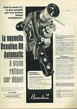 I- Publicité Advertising 1961 La Camera Beaulieu R8 Automatic