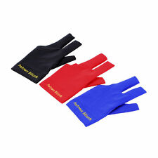 Spandex Snooker Billiard Cue Glove Pool Left Hand Open Three Finger Accessory SM
