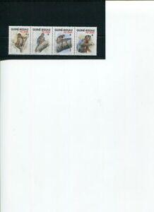 1992 WWF GUINEA BISSAU Western Red Colobus 4v strip set MNH POST FREE