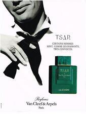 PUBLICITE ADVERTISING  1995   VAN CLEEF & ARPELS  TSAR  eau de toilette homme