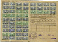 52 used Revenue Stamps on Health Ins. Card,Germany,1930
