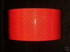 3m x 50mm orafol haute intensité bande réfléchissante rouge Self Adhésif Vinyle Hi Viz