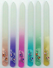 6 Beautiful Handpainted Glass Nail Files for Manicures and Pedicures ~✿•❤•✿•❤•❀~