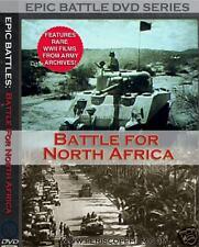 Original WWII BATTLE FOR NORTH AFRICA Afrika Korps Documentary Films on DVD