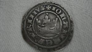 """Prager Groschen, Johann I, 1310-1346 mit Gegenstempel"""" Pferd"""" Rarität"""