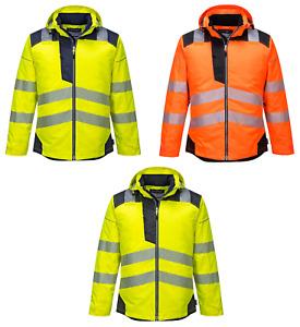 Portwest T400 Hi Vis Stain Resistant Waterproof Lightweight Winter Rain Jacket