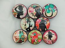 Set of 8 Western Cowgirl Turquoise and Pink Cabinet Knobs Drawer Knobs