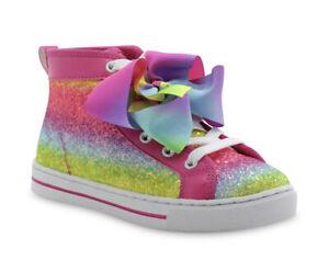 Toddler Girls JoJo Siwa Multi Stripe High Top Sneaker Size 10