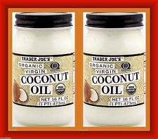 2 x Trader Joe's ORGANIC Coconut Oil 32 ounce Total -PARVE
