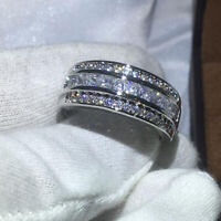 1.00 Princess Cut Diamond 14K White Gold Finish Women's Anniversary Wedding Band