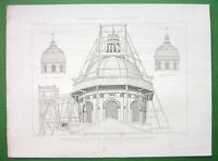 ARCHITECTURE PRINT : Paris Institute de France Restoration of Dome
