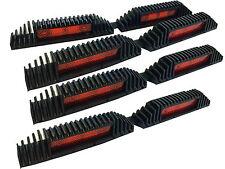 4 x Rosso, Porta Guardia, sicurezza, visibilità, Auto Riflettore Kit Anteriore + Posteriore porte.