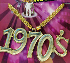 Collier paillettes 1970'S Hippie Austin Powers Diva Fleur Pouvoir Souteneur Déguisement
