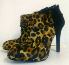 7fe026b1fdc3 Jessica Simpson Hair Hide Leopard Print Ankle Boots. Size 5. New.