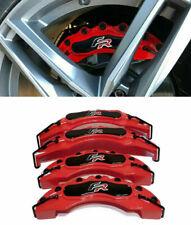 SEAT SET 4x COVER COPRI PINZE FRENI ROSSO ANTERIORI & POSTERIORI LOOK FR -
