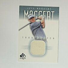 JEFF MAGGERT PGA Golf 2001 Upper Deck #JM-TS SP Authentic Tour Swatch Relic