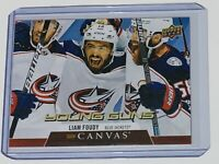 2020-21 UD SERIES ONE YOUNG GUNS UD CANVAS LIAM FOUDY C100 BLUE JACKETS