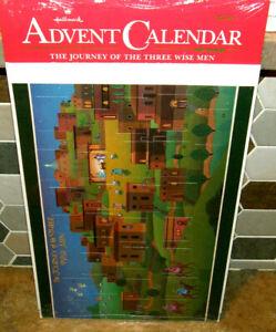 Vintage Sealed Hallmark Advent Calendar Journey 3 Wise Men Christmas Countdown