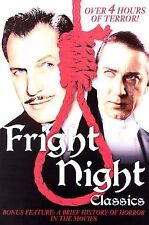 Fright Night Classic DVD House on Haunted Hill The Human Monster Invisible Ghost