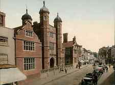 Guildford. Abbots Hospital. vintage photochrom from Photochrom Zurich archive