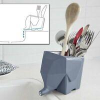Elephant Shape Drainer Dryer Flowerpot Bathroom Kitchen Cutlery Organize Sink