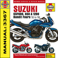 Suzuki Bandit GSF600 GSF1200 600 650 1200 1995 - 2006 Haynes Manual 3367 NEW