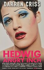 HEDWIG THE ANGRY INCH BROADWAY WINDOW CARD - DARREN CRISS