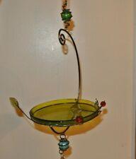 Small Fancy Bird Feeder Glass Hanging Bird Bath Tray