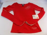 New Vtg 90s Pepe Jeans London Red Crystal Embellished Nylon Shirt Chaka S M L XL