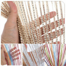Hanging Beaded Curtain Tassel Window Curtains String Door Fly Screen Panel US