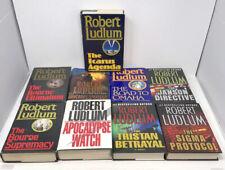 Robert Ludlum Hardcover Books - Bourne Apocalypse Tristan Sigma Janson -Lot of 9