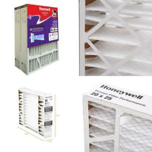Pleated Air Filter Heating Cooling Accessory Home Indoor Use 20x25x4 In 2 Pack