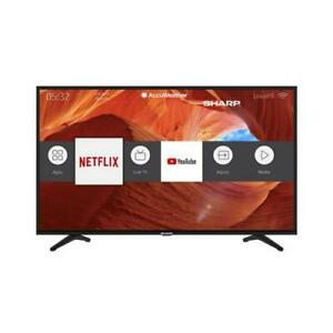 "Sharp 55"" 4K UHD Smart LED TV with Voice Assistant Compatibility"