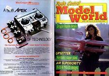 RADIO CONTROL MODEL WORLD MAGAZINE 1987 APR DRAGON RAPIDE, UPSETTER, F-15 & MIG