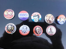SET OF 9 OLD POLITICAL CAMPAIGN PINS 1976
