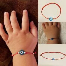 1 Baby Evil Eye String Bracelet Protection Mal de Ojo Azabache Hamsa Infant Gift