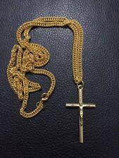 Messing Kreuz mit Kette