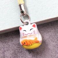 Maneki Neko Fortune Lucky Beckoning Cat Keyring Keychain Key Ring Chain Gift C