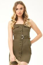 BNWT FOREVER21 CONTEMPORARY BELTED SAFARI DRESS