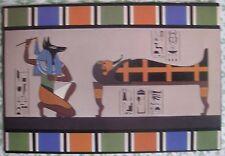 1977 Postcard Anubis Jackal-Headed Embalmer Funerary Rites Egyptian Hieroglyphs