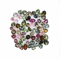Natural Tourmaline 63 Pcs 3mm-5mm Mix Cut Multi Color Loose Gemstones Lot
