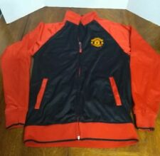 Manchester United Black Jacket Official Merchandise Zip Up Athletic Mens Small