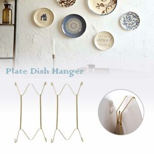 Wall Display Plates Hanger W  Type Dish Spring Holder  Invisible Hook Home Decor