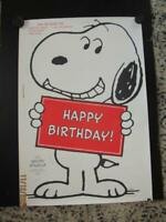 """New~Vtg~Giant~SNOOPY STAND-UP~Happy Birthday~Card~Poster~Sign~Hallmark~42"""" x 29"""""""
