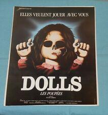 original DOLLS French promotional material pressbook advertising