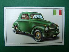 N°91 FIAT 500 C ITALIE ITALIA 1949 PANINI 1972 HISTOIRE DE L'AUTOMOBILE