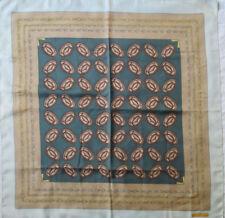 -Superbe Foulard MUST DE CARTIER  100% soie  TBEG vintage scarf 85 x 86 cm