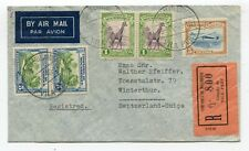 Mozambique registered airmail cover Vila Pery to Winterthur Switzerland 9-2-1940